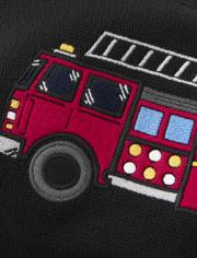 Boys Intarsia Sweater - Fire Chief
