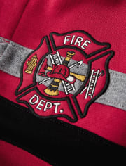 Boys Embroidered Hoodie - Fire Chief