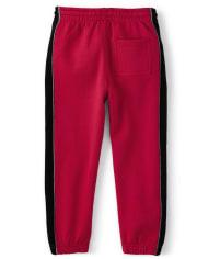 Boys Side Stripe Jogger Pants - Fire Chief