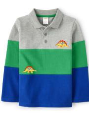 Boys Colorblock Polo - Dino Dude
