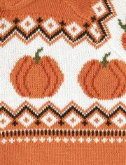 Boys Zip Up Sweater - Lil Pumpkin