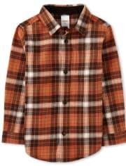 Boys Plaid Button Up Shirt