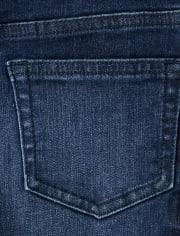 Boys Roll Cuff Jeans - Lil Pumpkin
