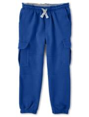 Boys Cargo Jogger Pants - Dino Dude
