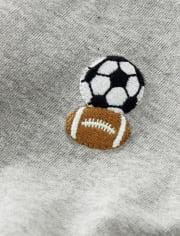 Boys Embroidered Sports Raglan Top - Future MVP