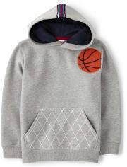 Boys Embroidered Basketball Hoodie - Future MVP