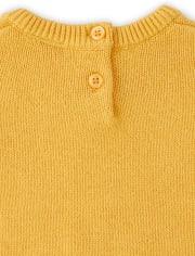 Girls Embroidered Sunflower Sweater - Harvest
