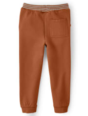 Boys Embroidered Fox Jogger Pants - Harvest