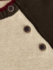 Boys Embroidered Bear Sweater - Critter Campout