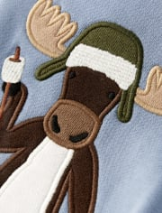 Boys Embroidered Zip Up Hoodie - Critter Campout