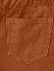 Boys Pull On Corduroy Pants - Harvest