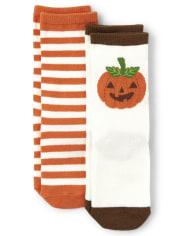 Boys Crew Socks 2-Pack - Lil Pumpkin