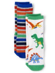 Boys Crew Socks 2-Pack - Dino Dude