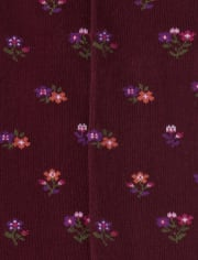 Girls Floral Tights 2-Pack - Tree House