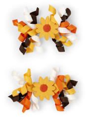 Pinzas para el pelo rizado de girasol para niñas - Cosecha