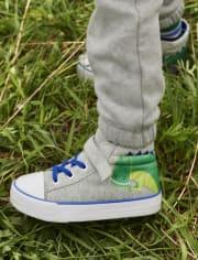 Boys T-Rex Hi Top Sneakers - Dino Dude
