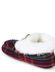 Unisex Plaid Moccasin Slippers - Gymmies