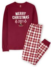 Unisex Adult Merry Christmas Cotton 2-Piece Pajamas - Gymmies