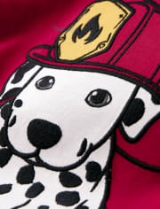 Boys Embroidered Dalmatian Top - Fire Chief