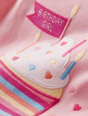 Girls Birthday Cupcake Cotton 2-Piece Pajamas - Gymmies