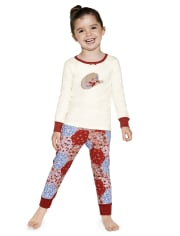 Girls Cowgirl Cotton 2-Piece Pajamas - Gymmies