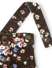 Girls Floral Corduroy Skirtall - Western Skies