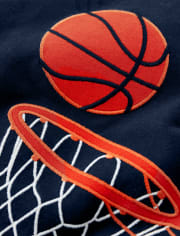 Boys Embroidered Basketball Top - Future MVP