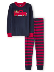 Baby And Toddler Boys Apple Truck Snug Fit Cotton Pajamas
