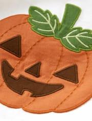Boys Embroidered Jack-O-Lantern Layered Top - Lil Pumpkin