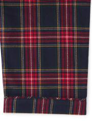 Unisex Adult Plaid Flannel 2-Piece Pajamas - Gymmies