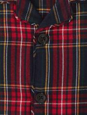 Unisex Plaid Flannel 2-Piece Pajamas - Gymmies