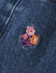 Girls Embroidered Floral Jeans - Tree House