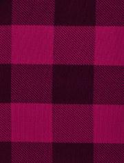 Girls Plaid Deer Cotton 2-Piece Pajamas - Gymmies