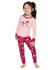 Girls Horse Cotton 2-Piece Pajamas - Gymmies