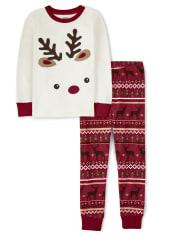 Unisex Reindeer Fairisle Cotton 2-Piece Pajamas - Gymmies