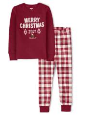 Unisex Merry Christmas Cotton 2-Piece Pajamas - Gymmies