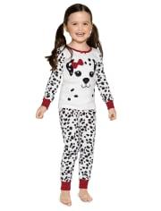 Girls Dalmatian Cotton 2-Piece Pajamas - Gymmies