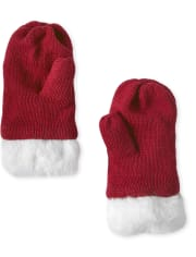 Girls Hat And Mittens Set - Ho Ho Ho