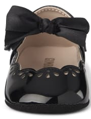 Baby Girls Bow Ballet Flats - Family Celebrations Red