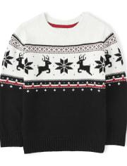 Boys Fairisle Sweater - Reindeer Cheer