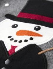 Boys Embroidered Snowman Top - Reindeer Cheer