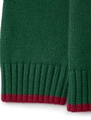 Boys Intarsia Gingerbread Sweater - Ho Ho Ho