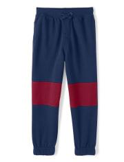 Boys Colorblock Jogger Pants - Ho Ho Ho
