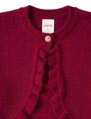 Girls Shrug Sweater - Family Celebrations Red