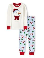 Unisex Snowman Cotton 2-Piece Pajamas - Gymmies