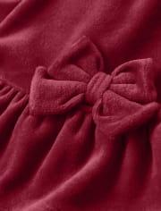 Baby Girls Velour Dress - Ho Ho Ho