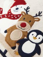 Unisex Winter Critters Cotton 2-Piece Pajamas - Gymmies