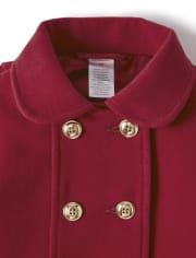 Girls Dressy Coat - Family Celebrations Red