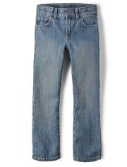 Boys Basic Bootcut Jeans