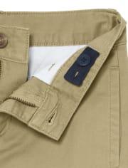 Pantalones chinos plisados uniformes para niños